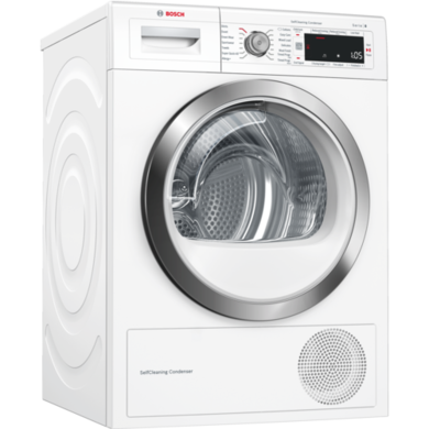 Bosch WTW87561GB Serie 8 9kg Heat Pump Tumble Dryer - White