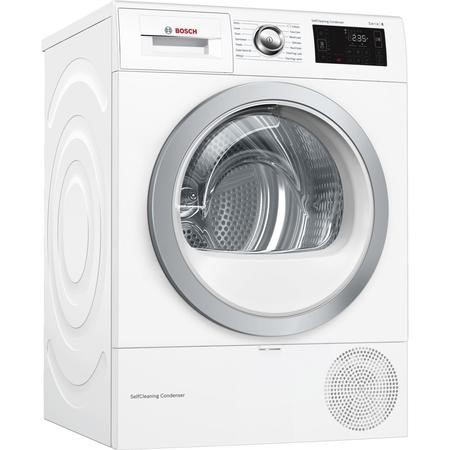 Bosch WTWH7660GB Serie 6 9kg Freestanding Condenser Tumble Dryer With Heat Pump - White
