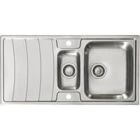 Astracast WW1050HXB Wave 1.5 Bowl Stainless Steel Sink