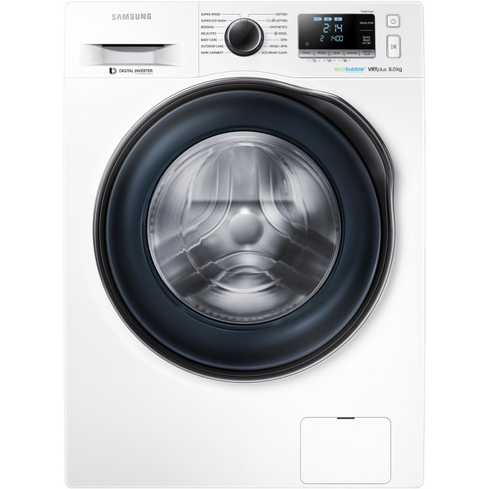 Samsung Ww80j6610cw 8kg 1600rpm Freestanding Washing Machine White