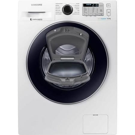 Samsung WW80K5413UW AddWash/EcoBubble 8kg 1400rpm Freestanding Washing Machine-White