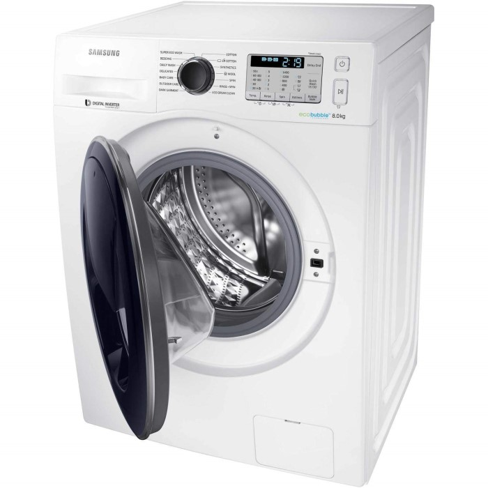 grade a2 samsung ww80k5413uw 8kg addwash ecobubble 1400rpm freestanding washing machine. Black Bedroom Furniture Sets. Home Design Ideas