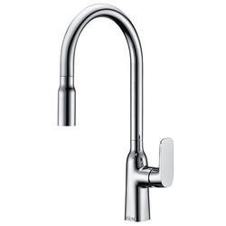 Taylor & Moore Windermere Single Lever Chrome Monobloc Kitchen Tap with Pull out Nozzle Spray