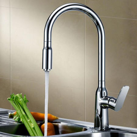 GRADE A1 - Taylor & Moore Windermere Single Lever Chrome Monobloc Kitchen Tap with Pull out Nozzle Spray