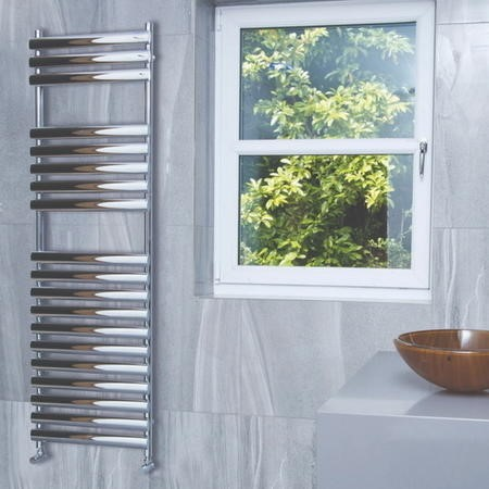 Dorney Chrome Heated Towel Rail - 800 x 500mm