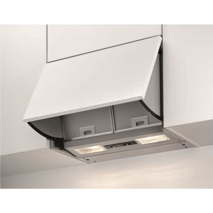 aeg x56342se10 60cm integrated cooker hood grey appliances direct. Black Bedroom Furniture Sets. Home Design Ideas