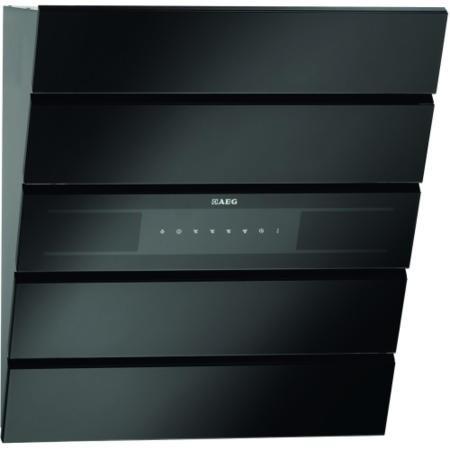 Aeg X66453bv10 60cm Chimney Cooker Hood Black Appliances
