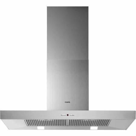 AEG X69264MD1 Low-profile Pyramid-style 90cm Chimney Cooker Hood Stainless Steel