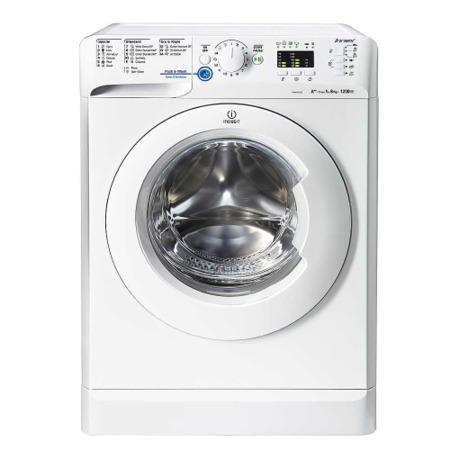 Indesit XWA81252XW White 8kg 1200rpm Freestanding Washing Machine