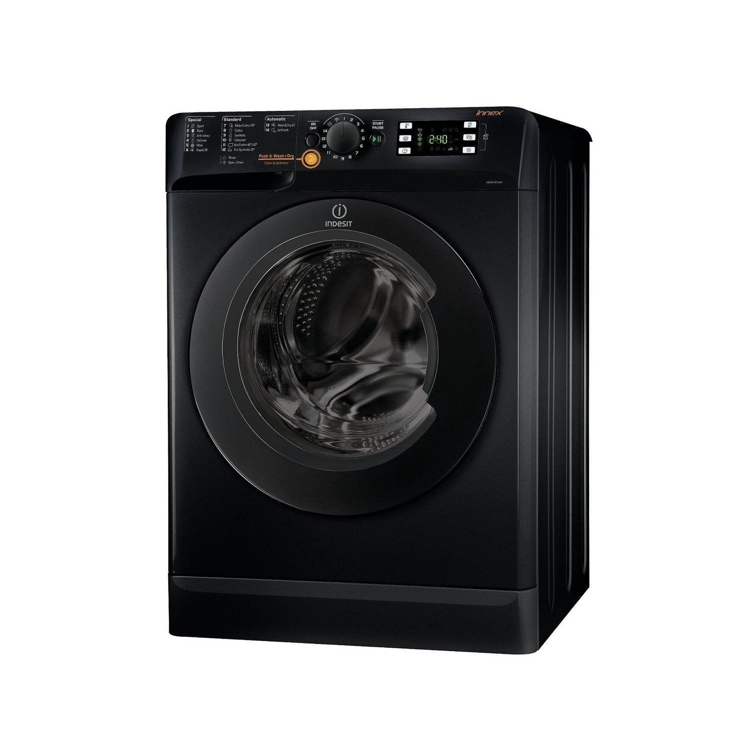 black washer dryer