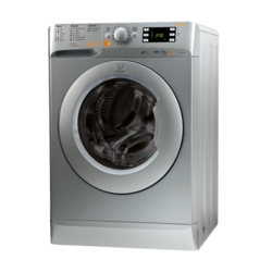 GRADE A2 - Light cosmetic damage - Indesit XWDE751480XS 7kg Wash 5kg Dry Freestanding Washer Dryer Silver