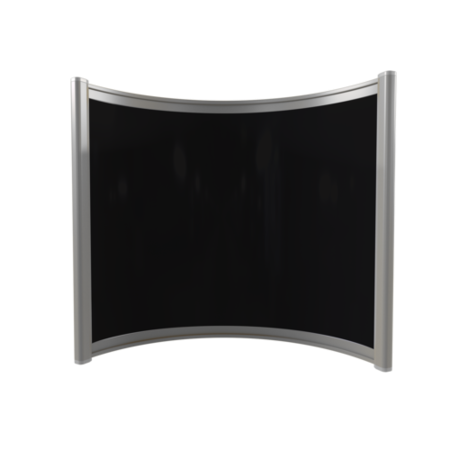 Far Infrared Heater Black Curved Panel Aluminium 400W - 550 x 500mm