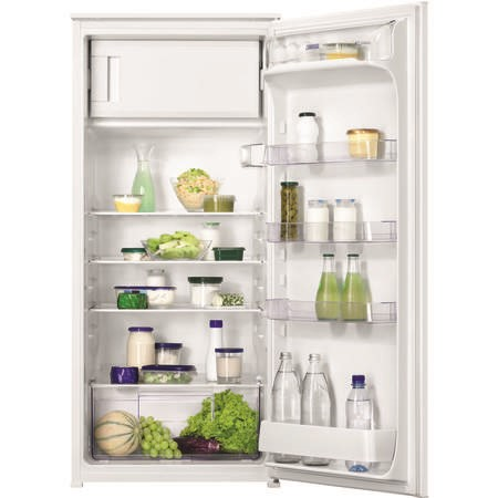Zanussi ZBA22421SV In-Column 123cm Fridge With Freezer Compartment - Sliding Rail