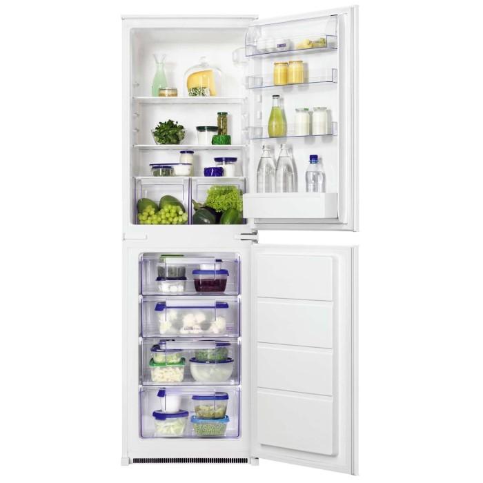 Zanussi zbb27450sa 54cm wide 50 50 integrated upright - Integrated freezer ...