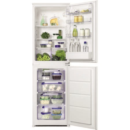 Zanussi ZBB27450SV 266 Litre Integrated Fridge Freezer 50/50 Split 178cm Tall Low Frost 55cm Wide - White
