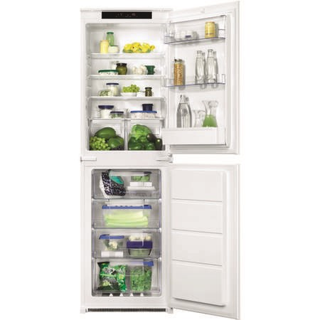 GRADE A2 - Zanussi ZBB27650SV 50-50 Split Frost Free Integrated Fridge Freezer - Sliding Rail - 178cm Height