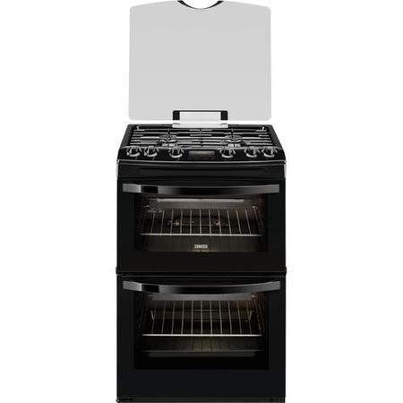 Zanussi ZCG63200BA 60cm Double Oven Gas Cooker - Black