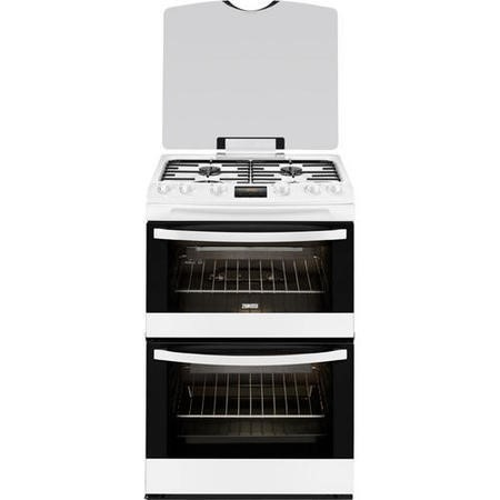 Zanussi ZCG63200WA White 60cm Double Oven Gas Cooker