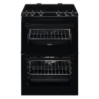 Zanussi 60cm Double Oven Induction Electric Cooker - Black Best Price, Cheapest Prices