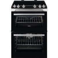 Zanussi 60cm Double Oven Induction Electric Cooker - Stainless Steel Best Price, Cheapest Prices