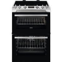 Zanussi ZCI66250XA 60cm Double Oven Electric Cooker with Induction Hob - Stainless Steel Best Price, Cheapest Prices
