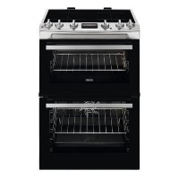 Zanussi 60cm Double Oven Induction Electric Cooker with Catalytic Cleaning - Stainless Steel Best Price, Cheapest Prices