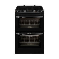 Zanussi ZCI68300BA Black 60cm Double Oven Electric Cooker With Induction Hob