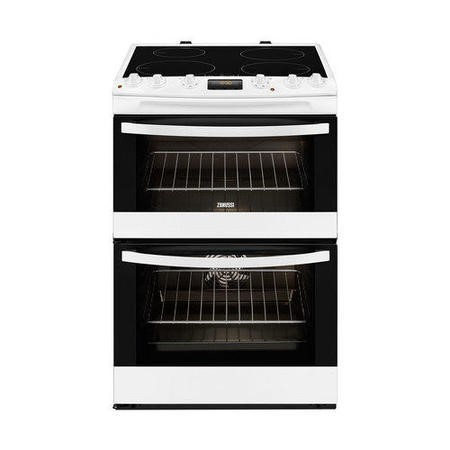 Zanussi ZCI68300WA White 60cm Double Oven Electric Cooker With Induction Hob