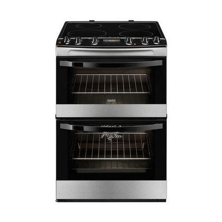 Zanussi ZCI68300XA Stainless Steel 60cm Double Oven Electric Cooker With Induction Hob