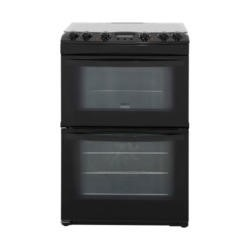 Zanussi ZCK68300B 60cm Double Oven Dual Fuel Cooker Black