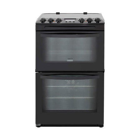 Zanussi Zcv48300ba 55cm Double Oven Electric Cooker With
