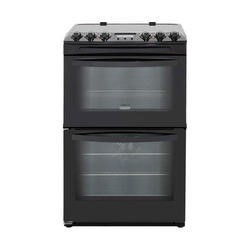 Zanussi ZCV48300BA Black 55cm Double Oven Electric Cooker With Ceramic Hob
