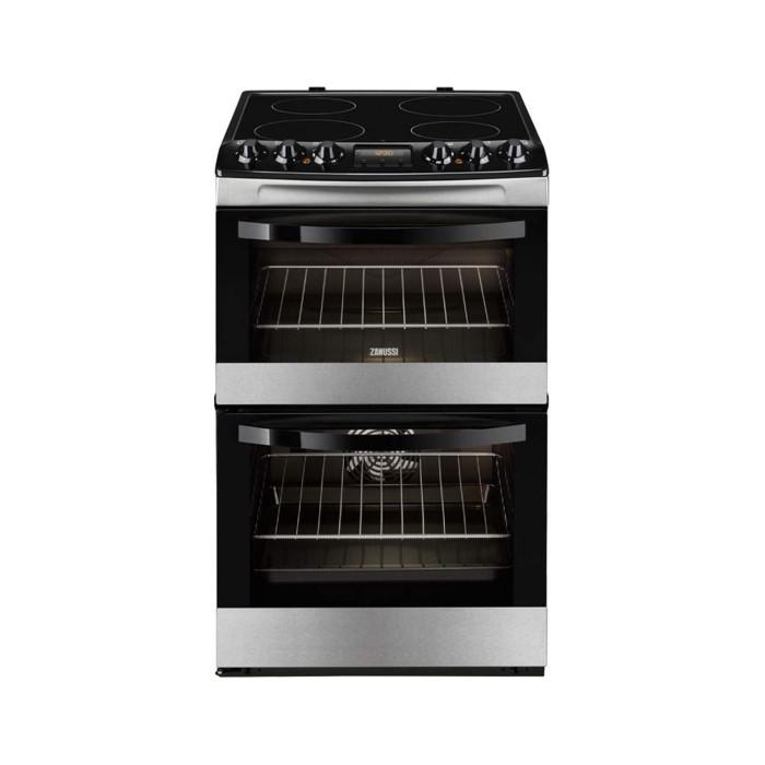 Zanussi Zcv48300xa Stainless Steel 55cm Double Oven Electric Cooker