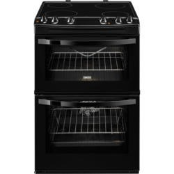 Zanussi ZCV68010BA Avanti 60cm Double Oven Electric Cooker With Ceramic Hob Black
