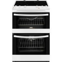 Zanussi ZCV68010WA Avanti 60cm Double Oven Electric Cooker With Ceramic Hob White