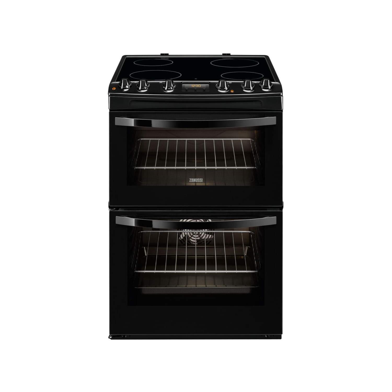 zanussi zcv68300ba black 60cm double oven electric cooker with rh appliancesdirect co uk Electric Ceramic Hobs Bosch Ceramic Hobs