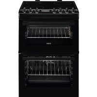 Zanussi ZCV69360BA 60cm Double Oven Electric AirFry Cooker With Ceramic Hob - Black Best Price, Cheapest Prices