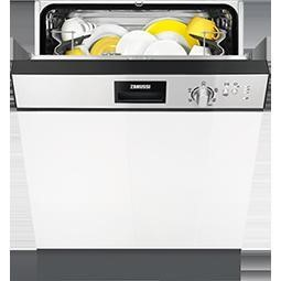 Zanussi ZDI22001XA 13 Place Semi-integrated Dishwasher Stainless Steel