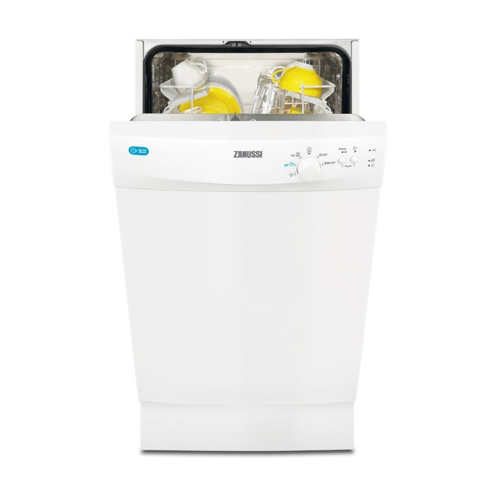 Zanussi Zds12002Wa 9 Place Slimline Freestanding Dishwasher  White
