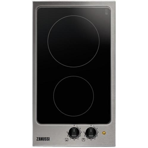 Zanussi ZEI3921IBA 29cm Wide Two Zone Induction Hob With Stainless Steel Frame