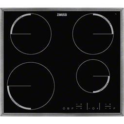 Zanussi ZEL6640XBA 59cm Four Zone Induction Hob With Stainless Steel Frame