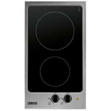 Zanussi ZES3921IBA 29cm Wide Two Zone Ceramic Hob - Stainless Steel Frame