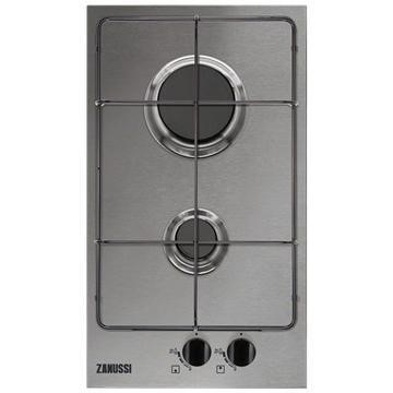 Zanussi ZGG35214XA 29cm Wide Two Burner Gas Hob In Stainless Steel