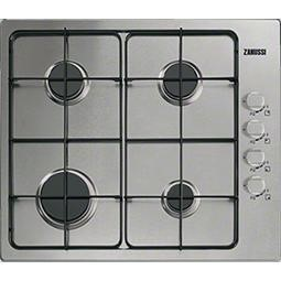 Zanussi ZGG62444SA 58cm Four Burner Gas Hob Stainless Steel
