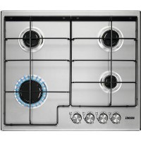 Zanussi ZGH65411XB 60cm Four Burner Gas Hob With Enamel Pan Stands - Stainless Steel