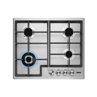 Zanussi ZGH66424XX 60cm Four Burner Gas Hob With Cast Iron Pan Stands - Stainless Steel