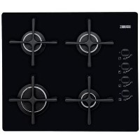 Zanussi ZGO63414BA 58cm Wide Four Burner Gas Hob - Black