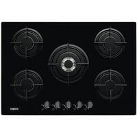 Zanussi ZGO75524BA 74cm Five Burner Gas Hob in Black