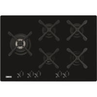 Zanussi ZGO76534BA 74cm Wide Five Burner Gas-on-glass Hob - Black