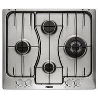 Zanussi ZGX65424XA 59cm Stainless Steel Four Burner Gas Hob